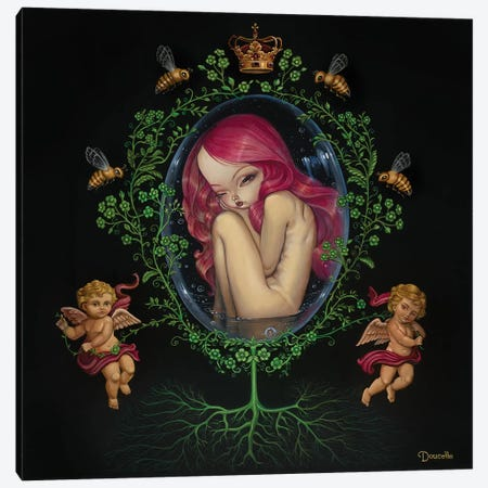 Gestation Canvas Print #BDO10} by Bob Doucette Canvas Art