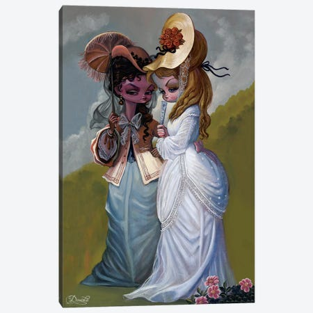 Gossip Canvas Print #BDO13} by Bob Doucette Canvas Art