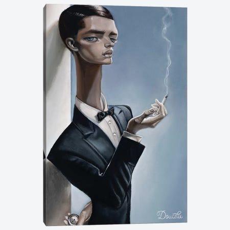 Killing Time Canvas Print #BDO15} by Bob Doucette Art Print