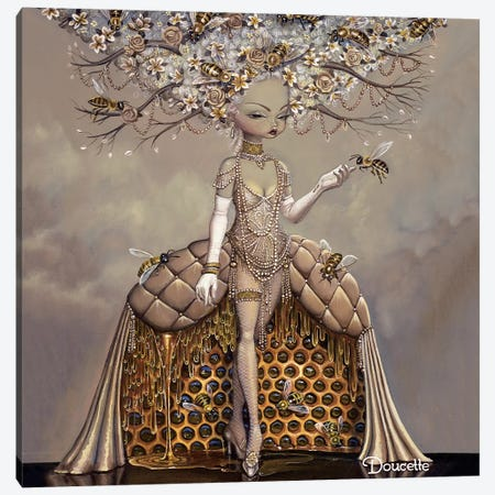 The Gift Of Honey Canvas Print #BDO22} by Bob Doucette Art Print