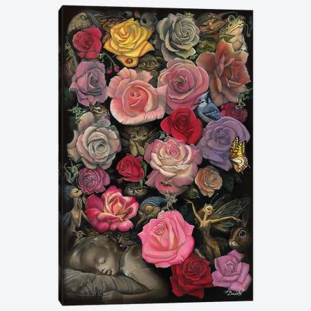 Night Garden Canvas Print #BDO33} by Bob Doucette Canvas Artwork