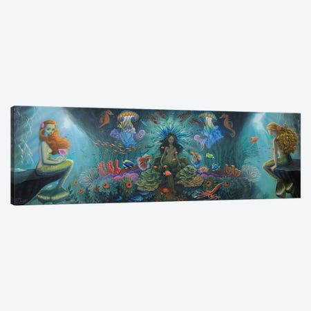 Salacia And The Oceanids Canvas Print #BDO35} by Bob Doucette Canvas Print
