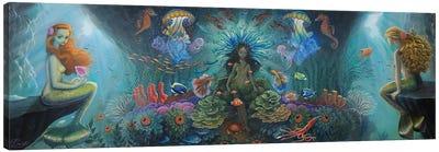 Salacia And The Oceanids Canvas Art Print