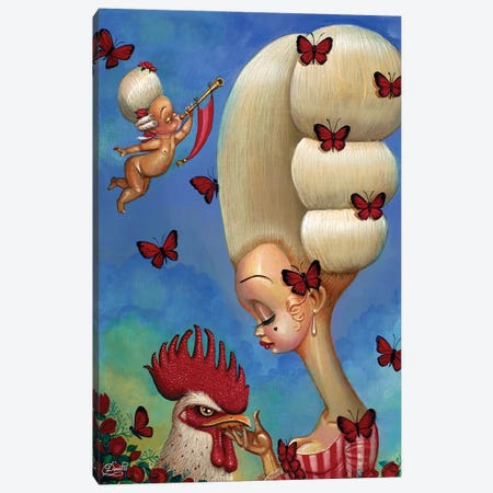 Cock-A-Doodle Canvas Print #BDO5} by Bob Doucette Canvas Wall Art
