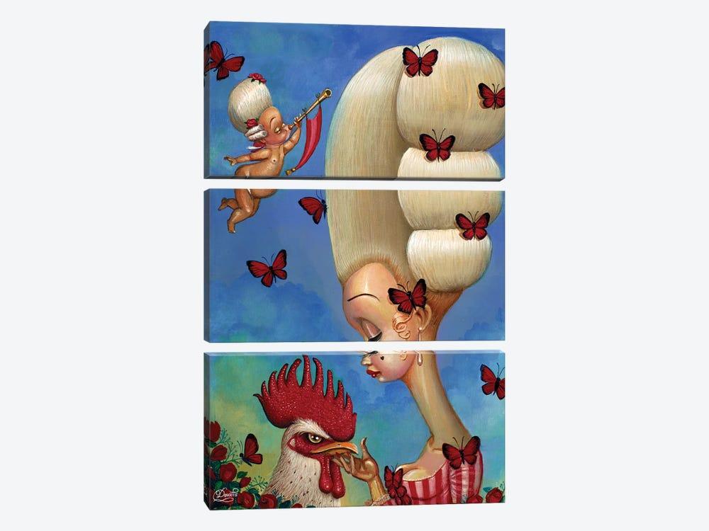Cock-A-Doodle by Bob Doucette 3-piece Canvas Artwork