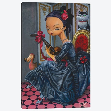 Dark Lady Canvas Print #BDO6} by Bob Doucette Canvas Artwork