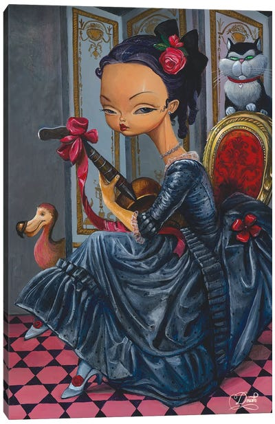 Dark Lady Canvas Art Print