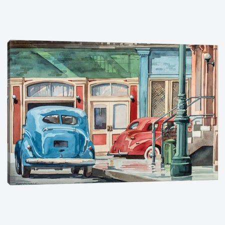Downtown Canvas Print #BDR11} by Bill Drysdale Art Print