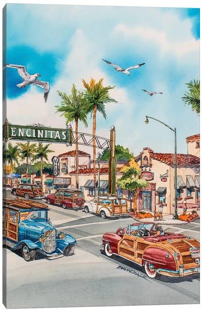 Encinitas Woodies Canvas Art Print