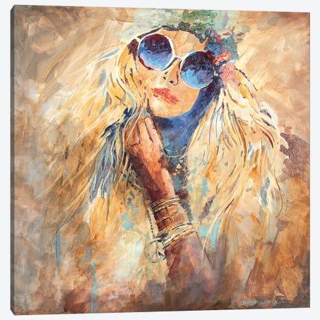 Hippie Girl Canvas Print #BDR18} by Bill Drysdale Art Print