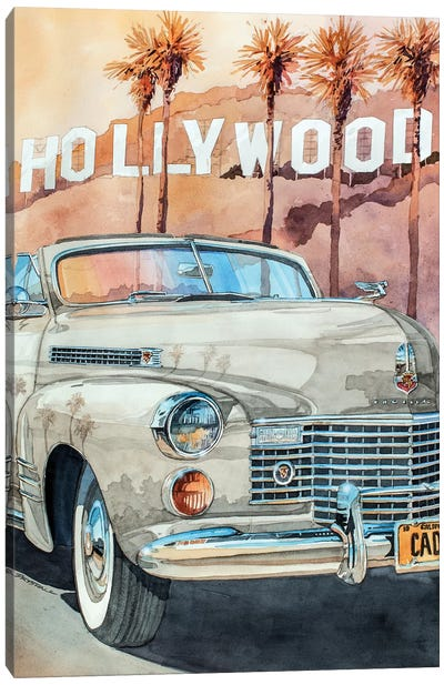 Hollywood Caddy Canvas Art Print