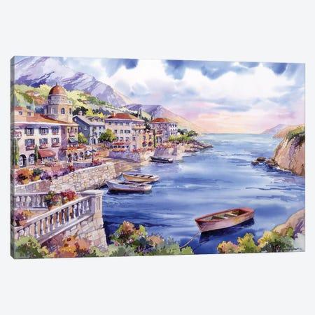 Italian Harbor Canvas Print #BDR24} by Bill Drysdale Canvas Print