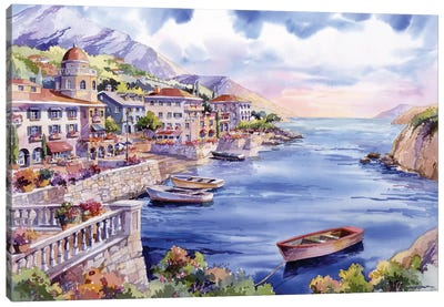 Italian Harbor Canvas Art Print