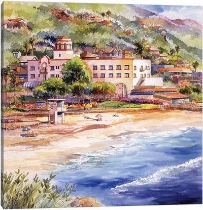 Laguna Main Beach Canvas Art Print