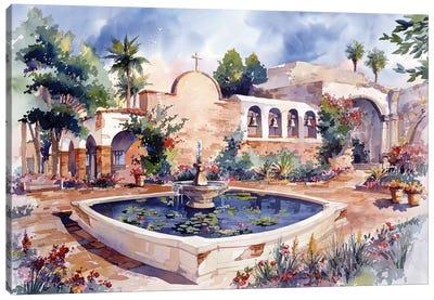 Mission San Juan Capistrano Canvas Art Print