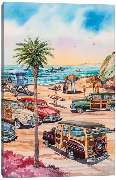 Moonlight Beach Woodies Canvas Art Print