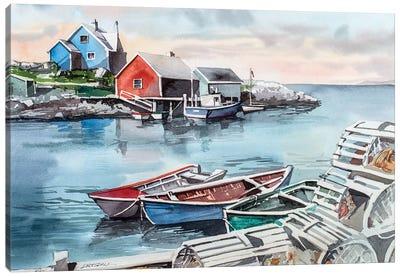 Peggys Cove Canvas Art Print