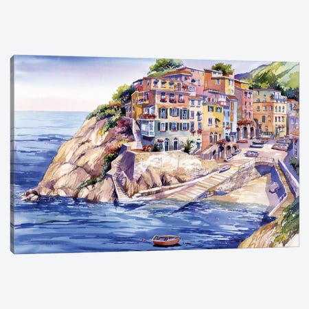 Riomaggiore Italy Canvas Print #BDR39} by Bill Drysdale Canvas Print