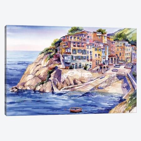 Riomaggiore Italy Canvas Print #BDR39} by Bill Drysdale Canvas Print