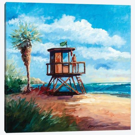Sano Surf Watch Canvas Print #BDR42} by Bill Drysdale Canvas Art