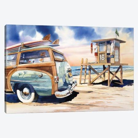 Surf Watch Canvas Print #BDR46} by Bill Drysdale Canvas Print