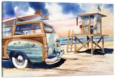 Surf Watch Canvas Art Print