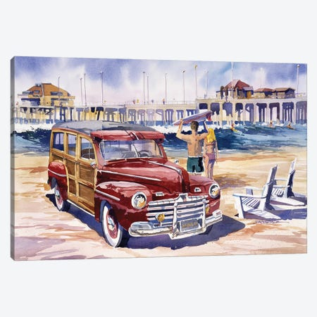 Surfin Safari Canvas Print #BDR48} by Bill Drysdale Canvas Art
