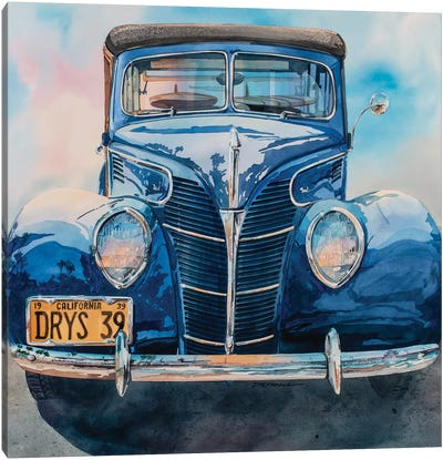 Surfin Woodie Canvas Art Print