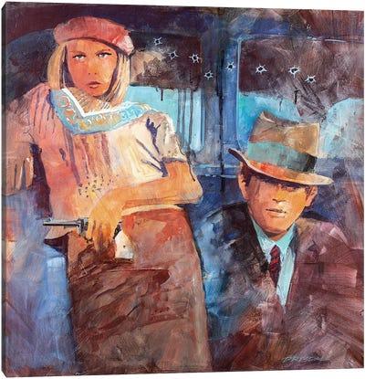 Bonnie And Clyde Canvas Art Print