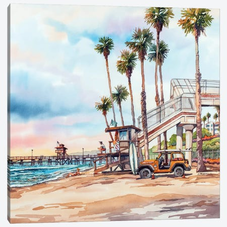 T Street Canvas Print #BDR50} by Bill Drysdale Canvas Print