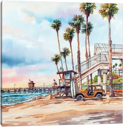 T Street Canvas Art Print