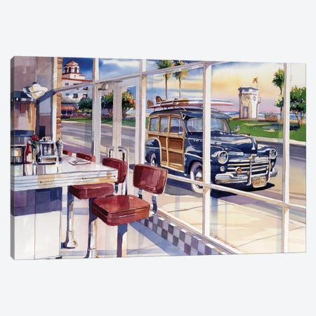The Diner Canvas Print #BDR52} by Bill Drysdale Canvas Print