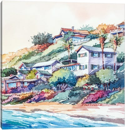 Along The Coast Canvas Art Print