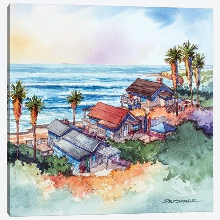 Coastal Bungalows Canvas Print #BDR61} by Bill Drysdale Canvas Artwork