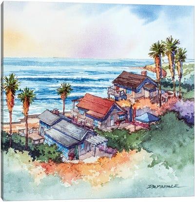 Coastal Bungalows Canvas Art Print