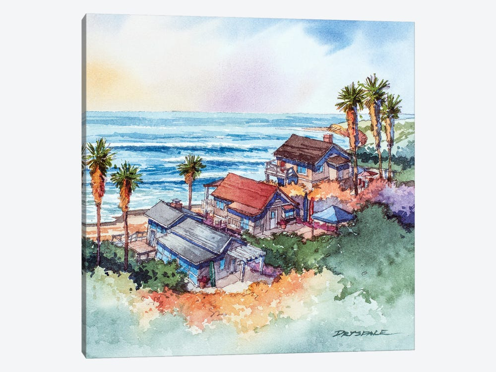 Coastal Bungalows by Bill Drysdale 1-piece Canvas Print