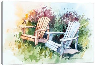 Garden Chairs Canvas Art Print