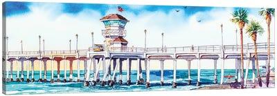HB Pier Canvas Art Print