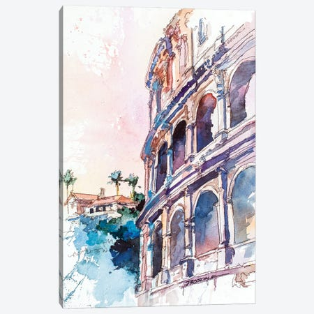Roman Colosseum Canvas Print #BDR66} by Bill Drysdale Canvas Art Print