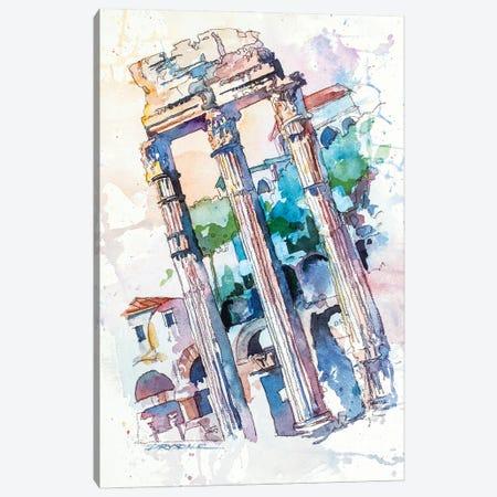 Roman Ruins Canvas Print #BDR67} by Bill Drysdale Art Print