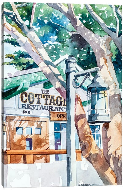 The Cottage Restaurant Canvas Art Print