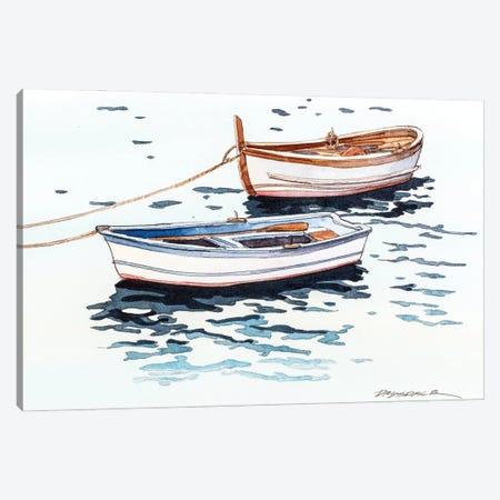 Vernazza Boats Canvas Print #BDR72} by Bill Drysdale Canvas Print