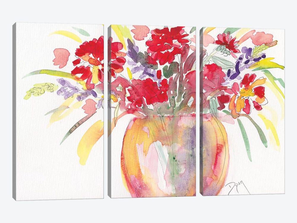 Summer Bouquet by Beverly Dyer 3-piece Art Print