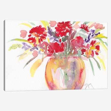 Summer Bouquet Canvas Print #BDY2} by Beverly Dyer Canvas Art
