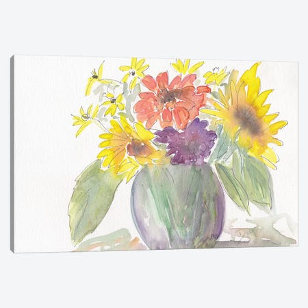 Sunny Bouquet Canvas Print #BDY3} by Beverly Dyer Canvas Art