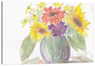 Sunny Bouquet Canvas Art Print