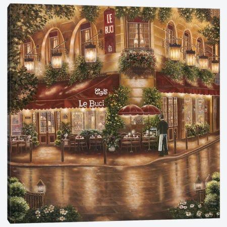Café Le Buci Canvas Print #BEB2} by Betsy Brown Canvas Print