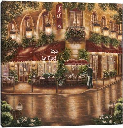 Café Le Buci Canvas Art Print