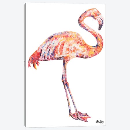 Flamingo Canvas Print #BEC12} by Becksy Canvas Art Print