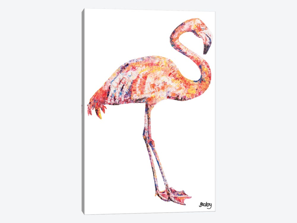 Flamingo by Becksy 1-piece Art Print